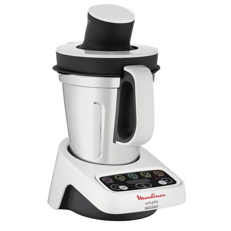 robot cuiseur volupta blanc gris hf404110 moulinex pas cher prix auchan. Black Bedroom Furniture Sets. Home Design Ideas