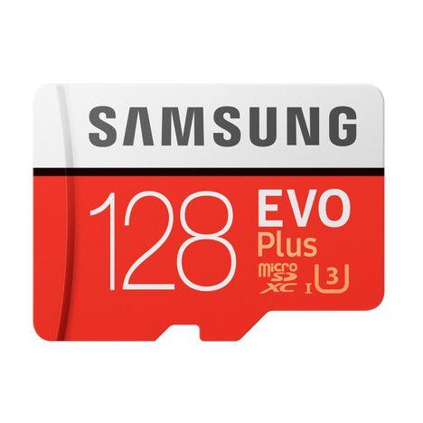 SAMSUNG Carte mémoire Micro SD EVO Plus 128 Go + adaptateur SD