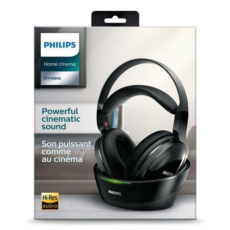 Shc8800 Noir Casque Sans Fil Home Cinéma Hi Res Philips Pas Cher