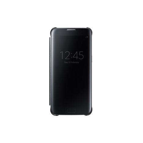 SAMSUNG Etui folio Clear View Cover pour Galaxy S7 EDGE - Noir