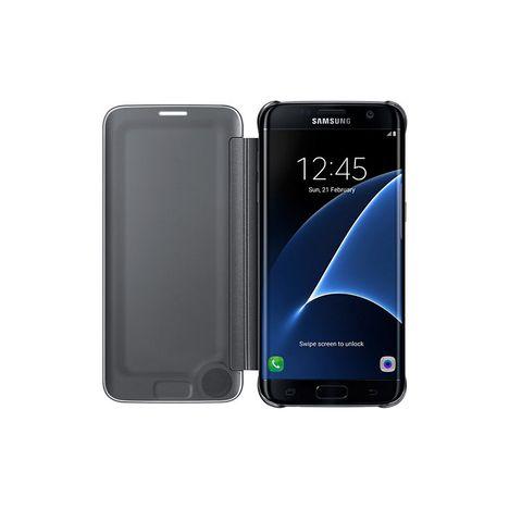Etui folio Clear View Cover pour Galaxy S7 EDGE - Noir SAMSUNG pas ... 1fcc4798c5ca
