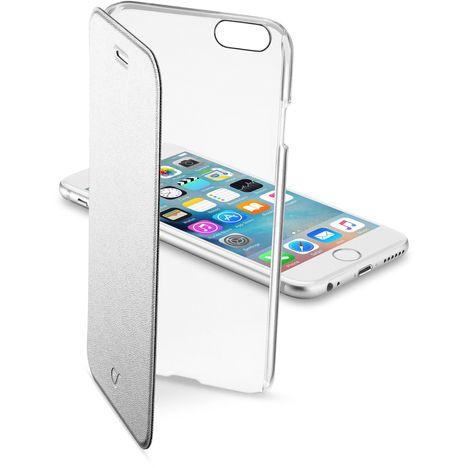 CELLULAR Etui folio argent avec arrière rigide transparent pour iPhone 6S/6