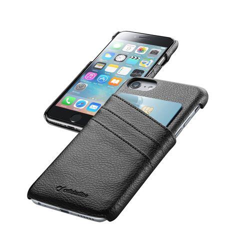 CELLULAR Coque arrière noir avec 3 rangements CB pour iPhone 6S/6