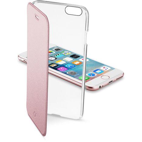 CELLULAR Etui folio rose avec arrière rigide transparent pour iPhone 6S/6