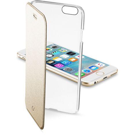 CELLULAR Etui folio or avec arrière rigide transparent pour iPhone 6S/6