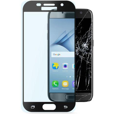 CELLULAR Protection d'écran en verre trempé + contours écrans noirs pour Samsung Galaxy A3