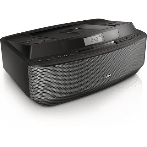 PHILIPS AZ420 - Noir - Lecteur de CD USB Tuner numérique