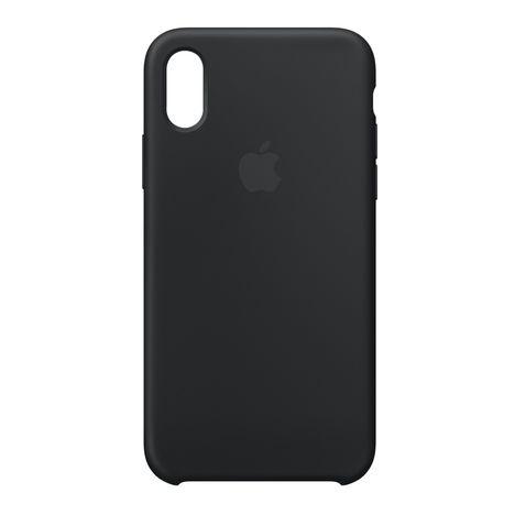 Coque pour iPhone X - Noir APPLE pas cher à prix Auchan