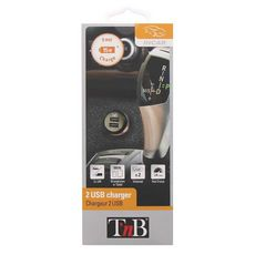 TNB ACGPCAR3B - Chargeur allume cigare pour GPS, tablette, smartphone