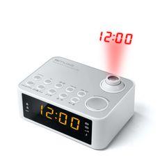 MUSE Radio-réveil avec projection de l'heure - Blanc - M-178 PW