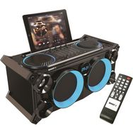BOOST Système audio stéréo portable Bluetooth - Lumineux - Noir - Inbox 280