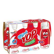 Yop mini saveur fraise 8x100g