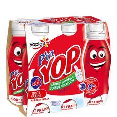 P'tit Yop fraise 6x180g