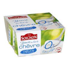 Soignon yaourt nature au chèvre 0% 4x125g