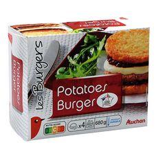 AUCHAN Potatoes burger 4 pièces 680g