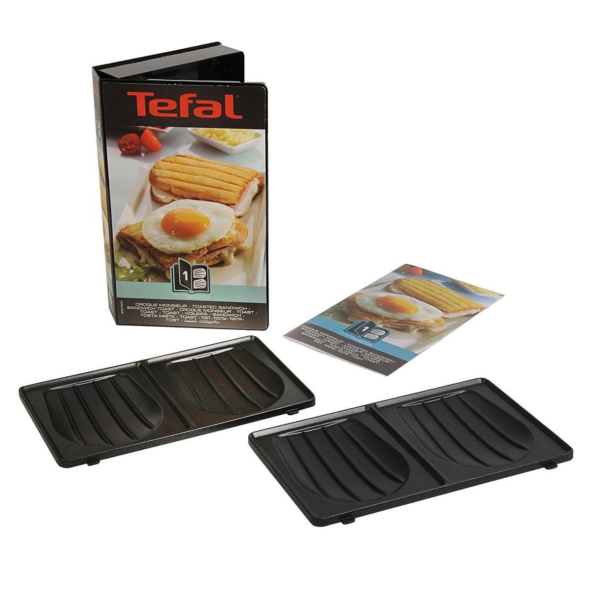 TEFAL Coffret Snack Collection Croque Monsieur + livre de recettes