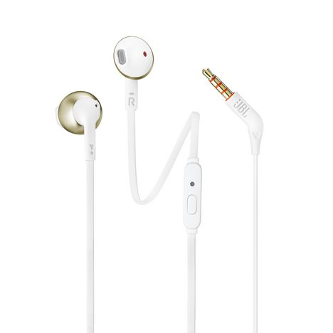 JBL Écouteurs intra-auriculaires - Doré - T205