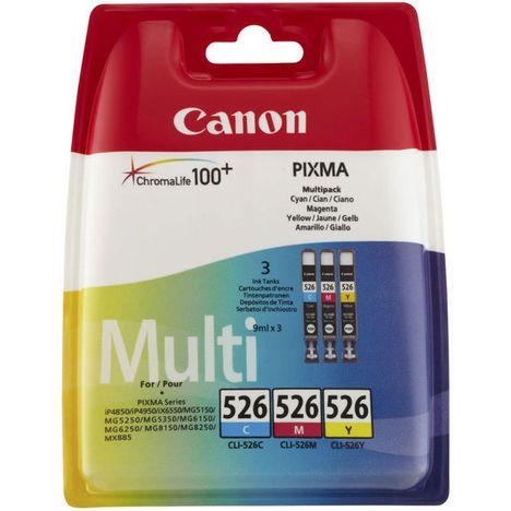 CANON Cartouche CLI-526CMY- 3 Couleurs Cyan/Magenta/Jaune