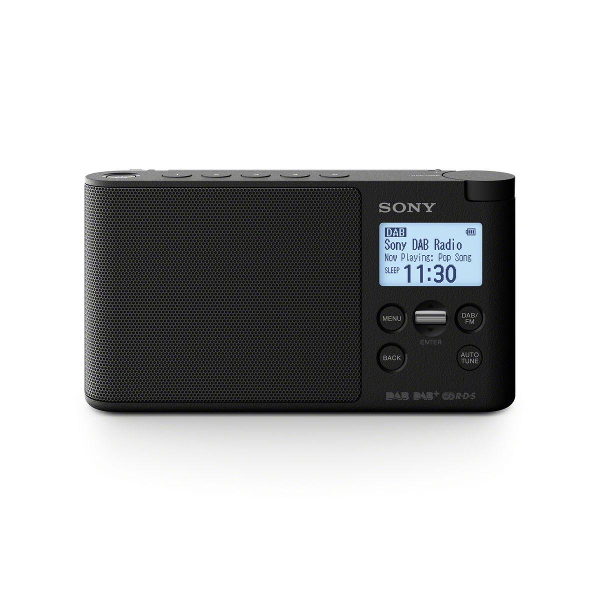 Radio portable digitale DAB/FM - Noir - XDR-S41DBP