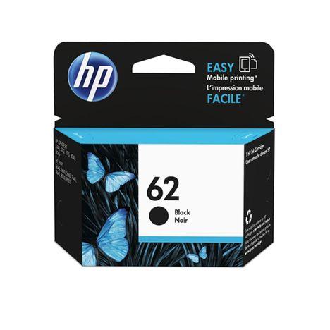 HP Cartouche d'Encre HP 62 Noire Authentique (C2P04AE)