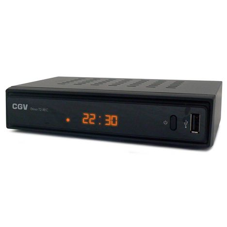 C.G.V Etimo T2-REC - Noir - Récepteur TNT HD