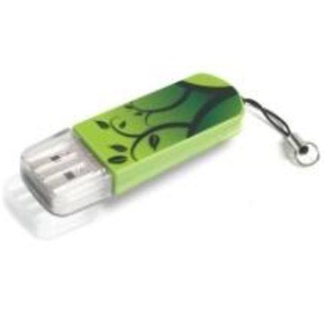 VERBATIM Mini USB 2.0 Drive 8GB - Elements Edition - Vert