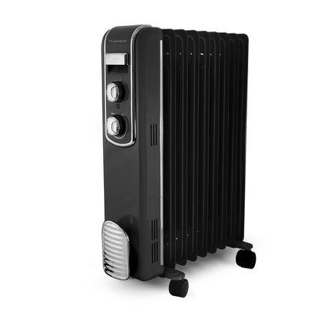radiateur bain d 39 huile thbdh09vn fifty noir thomson pas cher prix auchan. Black Bedroom Furniture Sets. Home Design Ideas