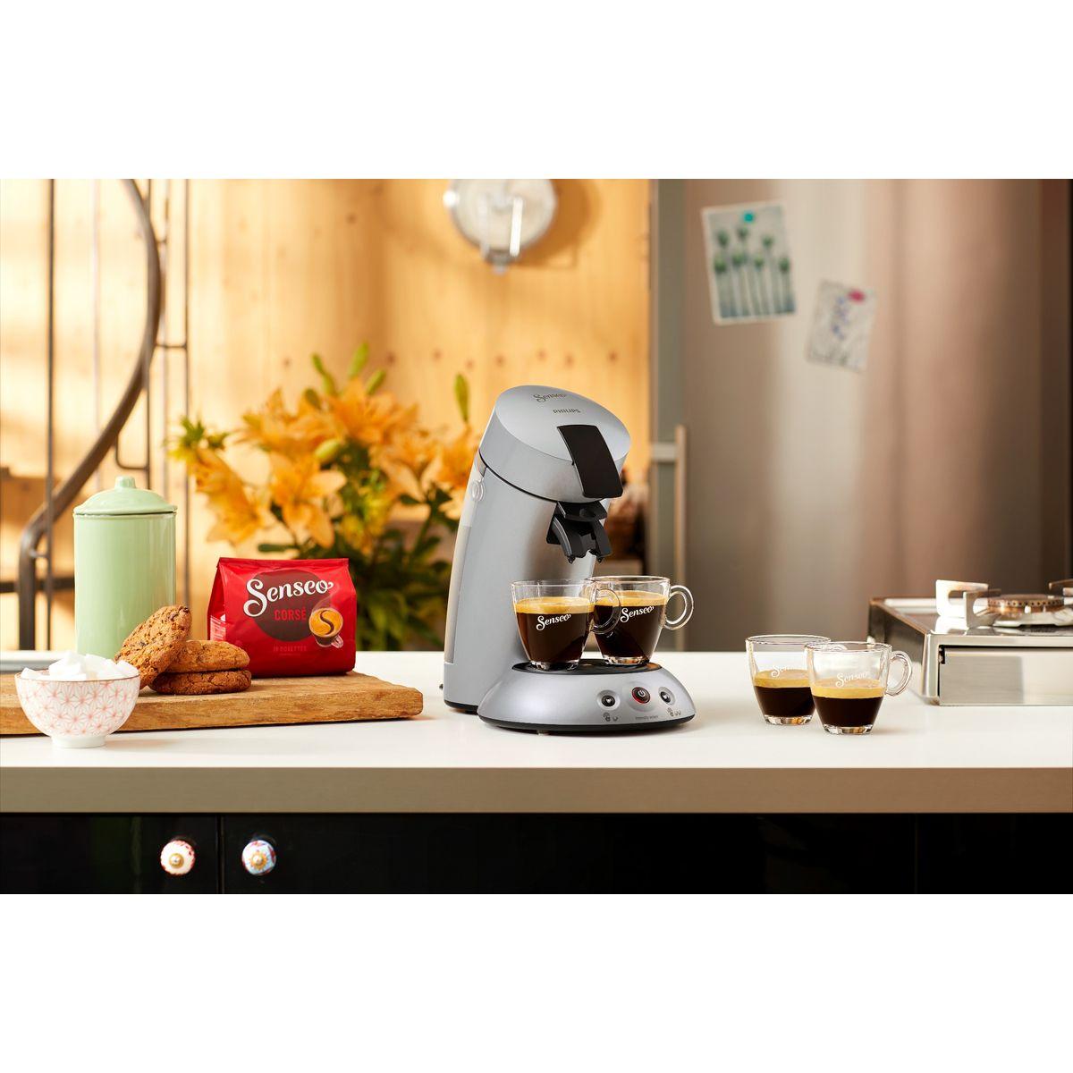 PHILIPS Cafetière à dosettes Senseo HD6556/59 Original Argent