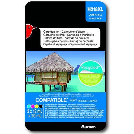 AUCHAN Cartouche d'encre compatible HP 218 XL - Noir Cyan Magenta & Jaune