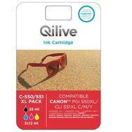 QILIVE Cartouche 4 Couleurs C-551 XL