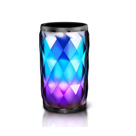 enceinte portable cristal led 6 couleurs bluetooth dual pas cher prix auchan. Black Bedroom Furniture Sets. Home Design Ideas