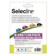 SELECLINE Cartouche 4 Couleurs B-980/1100 PACK