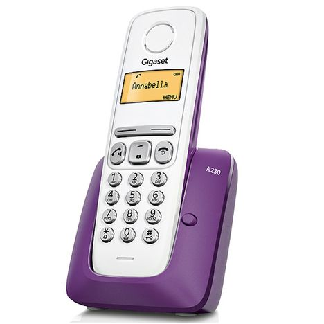 GIGASET Téléphone fixe - A230 - Prune - Répondeur