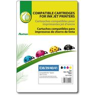 POUCE Cartouche d'encre compatible EPSON T0611-2-3-4 E38/39/40/41  - Noir Cyan Magenta & Jaune