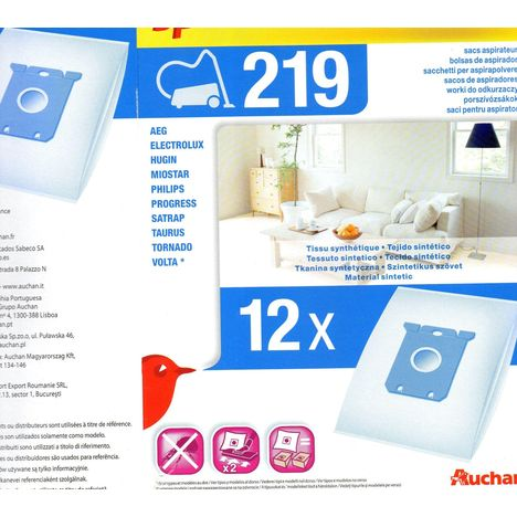Pas Sacs 219Eco Auchan Aspirateur Cher Prix À lKF1cJ
