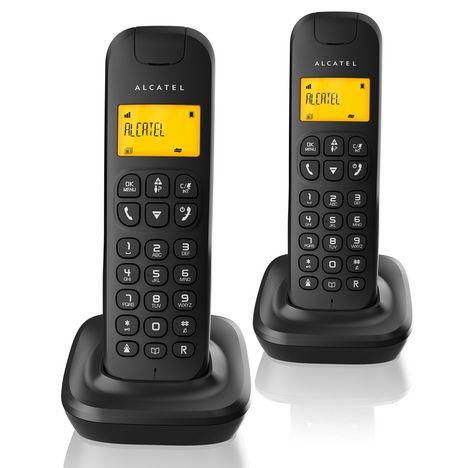 ALCATEL Téléphone fixe - D135 Duo - Noir
