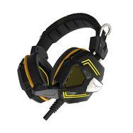 QILIVE Casque filaire Gaming Premium Headset - Noir et jaune