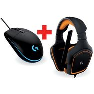 LOGITECH Casque filaire Gaming G231 PRODIGY + Souris filaire Gaming G203 PRODIGY