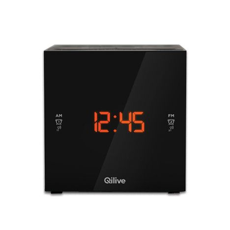 QILIVE Radio réveil - Noir - Cubic Clock Q.1389