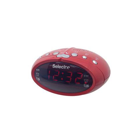 SELECLINE CT 303 - Rouge - Radio réveil