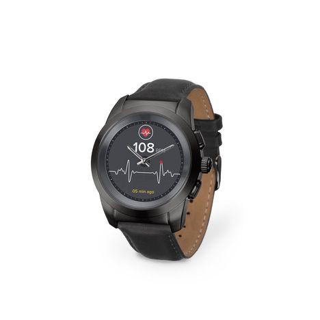 KRONOZ Montre connectée - Hybride Ze Time - Bluetooth - Noir