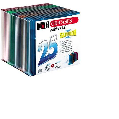 TNB Accessoire Multimédia Boitier 25 CD Slim