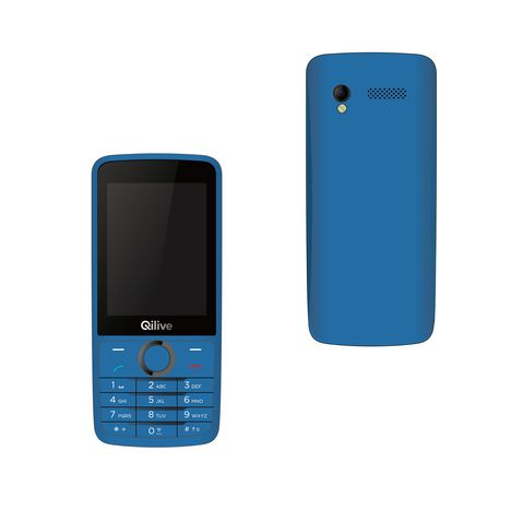 t l phone portable big screen 888807 double sim bleu qilive pas cher prix auchan. Black Bedroom Furniture Sets. Home Design Ideas