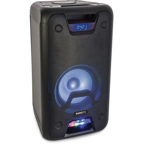 BOOST Enceinte sono portable - Bluetooth - Lumineuse - USB - Noir - POWERSOUND 300
