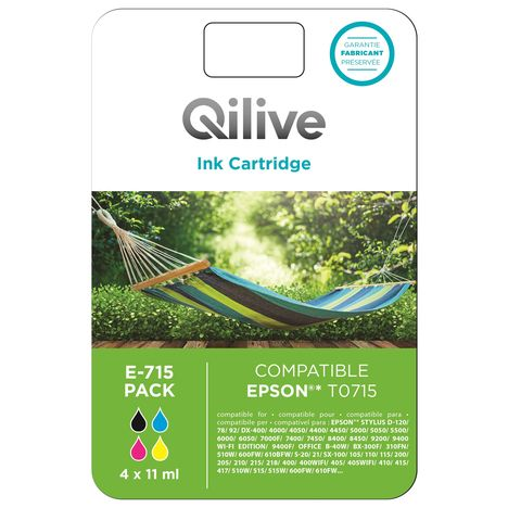 QILIVE Cartouche 4 Couleurs E-715 PACK