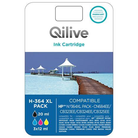 QILIVE Cartouche 4 Couleurs H-364 PACK XL