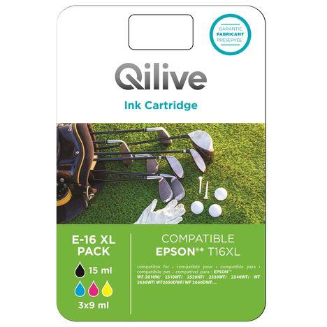 QILIVE Cartouche 4 Couleurs E-16 XL PACK