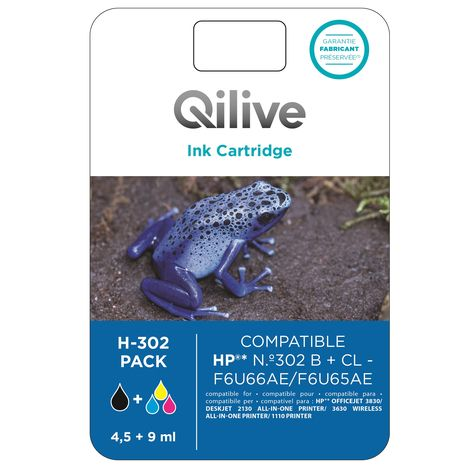 QILIVE Cartouche N+CL H-302 PACK