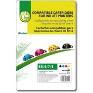 POUCE Cartouche d'encre compatible BROTHER LC970/1000 B5/6/7/8 - Noir Cyan Magenta & Jaune