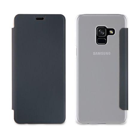 QILIVE Etui folio pour Galaxy A8 - Noir